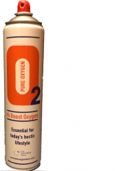 1 X O2 10 Litre Oxygen Can Sport