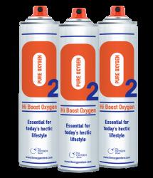 3 X O2 10 Litre Oxygen Cans Sport