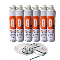 12 X O2 10 Litre Oxygen Cans 2 x masks